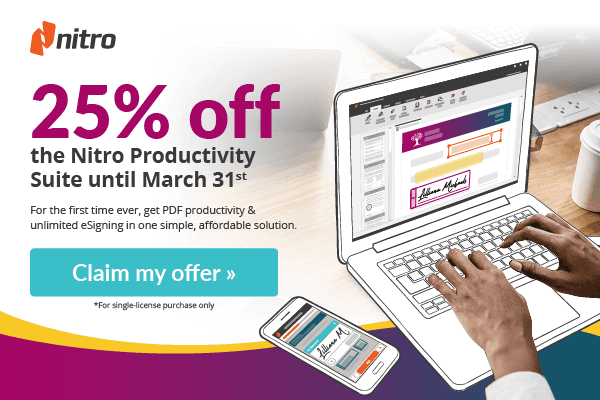 Nitro Productivity Suite 25% Off