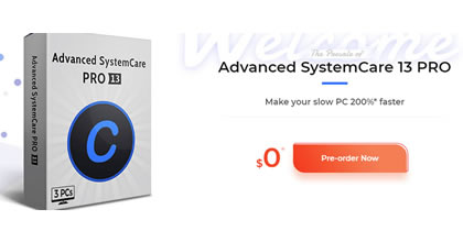 The latest Advanced SystemCare 13 PRO edition, 30-days for FREE! [Expired]