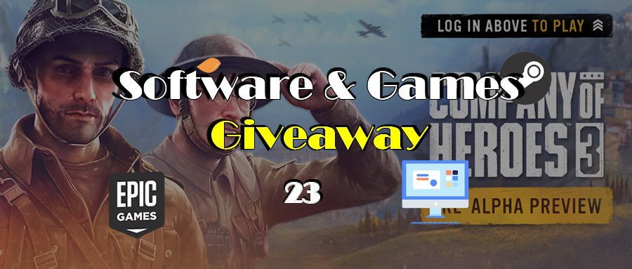 Giveaway! 100% FREE to Get Company of Heroes 3, Syberia I & II, TriSunSoft KeyMusic, AnyMP4 Video Converter, and so on!