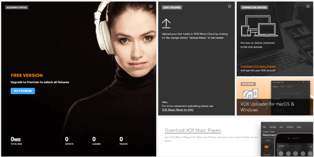 VOX Music Player Screenshot