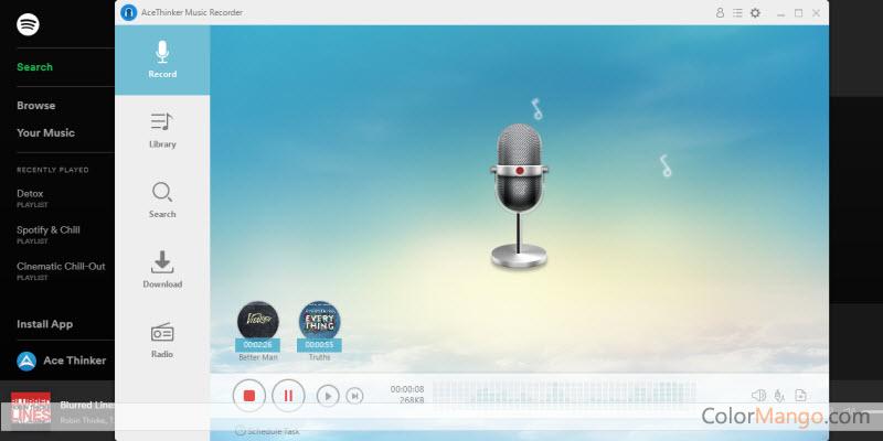 Acethinker Music Recorder Capture D'écran