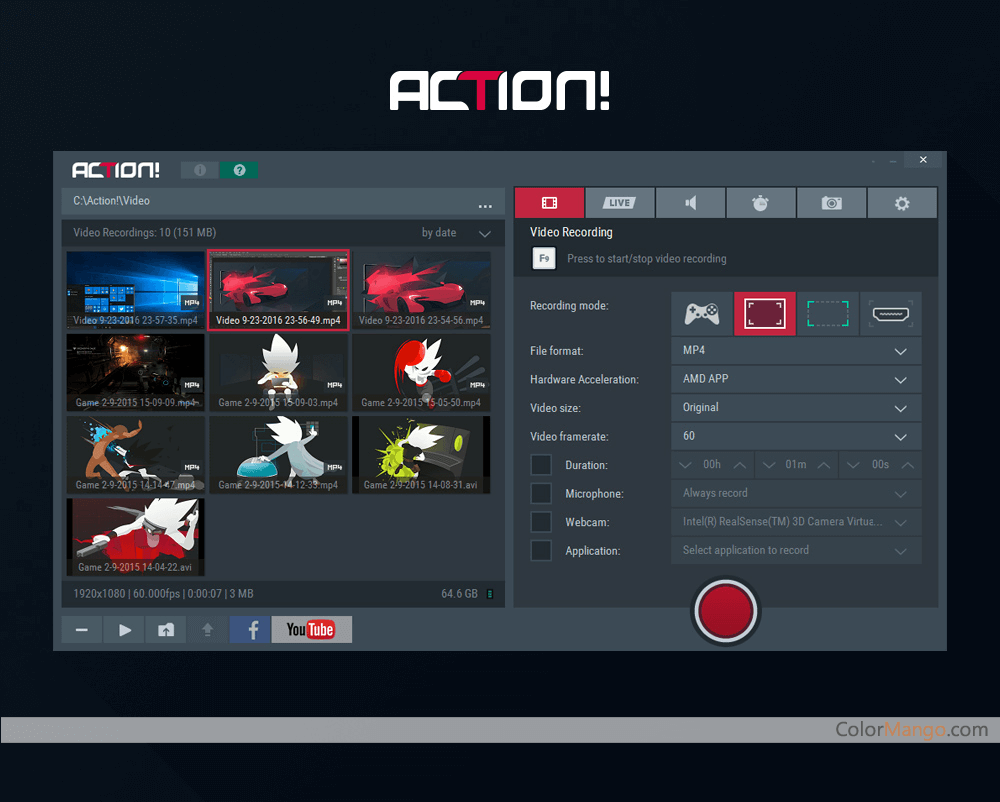 Action! - screen and game recorder Screenshot