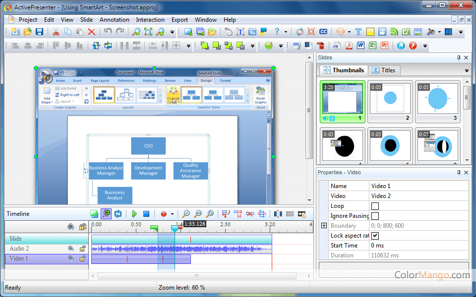 ActivePresenter Screenshot