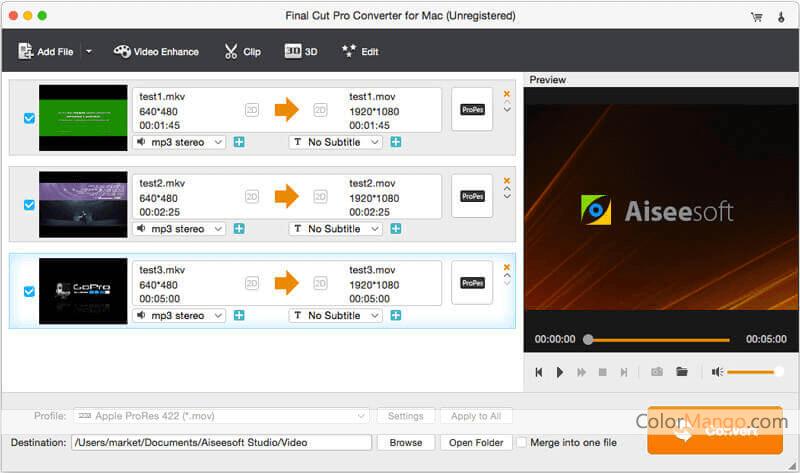 Aiseesoft Final Cut Pro Converter for Mac Screenshot