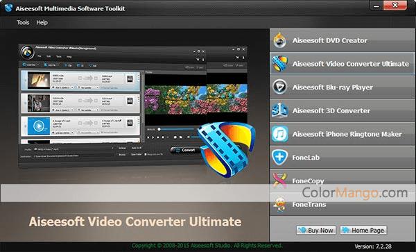 Aiseesoft Multimedia Software Toolkit Screenshot