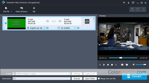 Aiseesoft Video Enhancer Screenshot