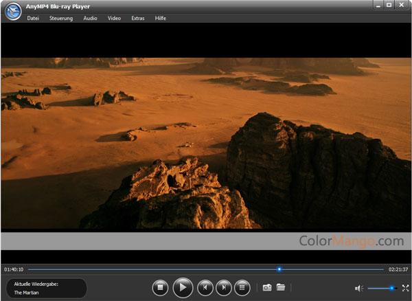 AnyMP4 Blu-ray Player Bildschirmfoto