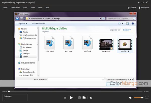 AnyMP4 Blu-ray Player Capture D'écran