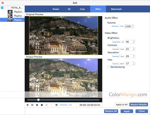 AnyMP4 Blu-ray Ripper for Mac Screenshot