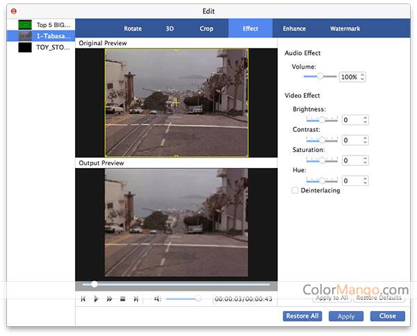 AnyMP4 Video Converter for Mac Screenshot