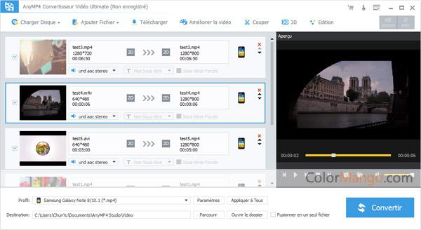 AnyMP4 Convertisseur Vidéo Ultimate Capture D'écran