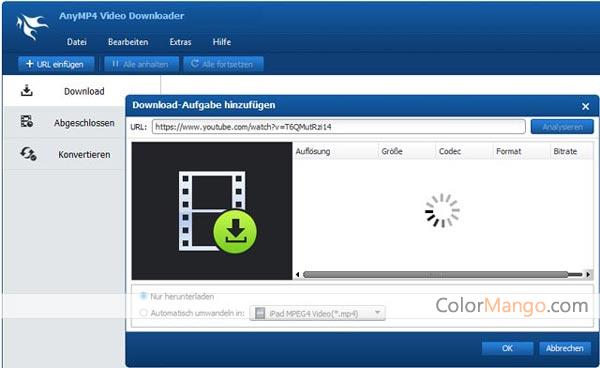 AnyMP4 Video Downloader Bildschirmfoto