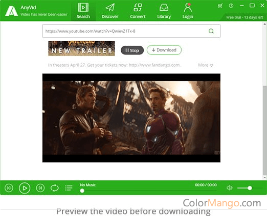 AnyVid Video Downloader Screenshot