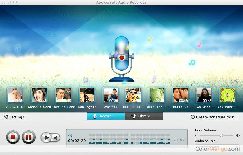Apowersoft Audio Recorder for Mac Screenshot