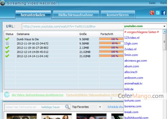 Apowersoft Streaming Video Recorder Bildschirmfoto