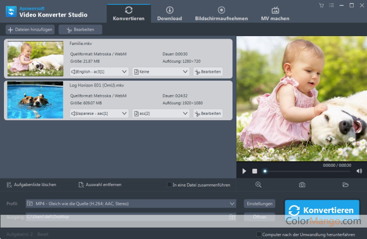 Apowersoft Video Konverter Studio Bildschirmfoto