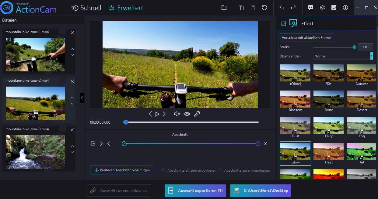 Ashampoo ActionCam Bildschirmfoto