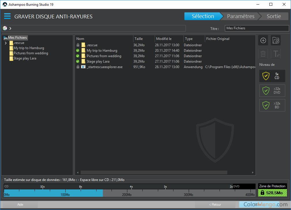 Ashampoo Burning Studio Capture D'écran