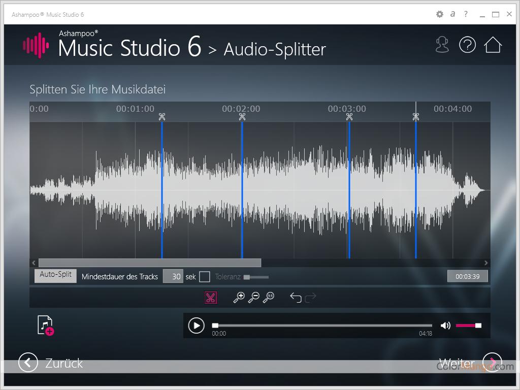Ashampoo Music Studio Bildschirmfoto