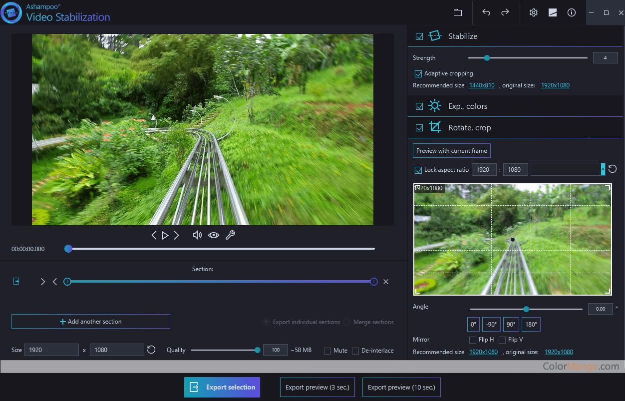 Ashampoo Video Stabilization Screenshot