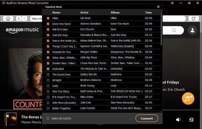 AudFree Amazon Music Converter Capture D'écran