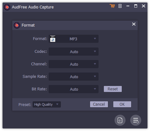 AudFree Audio Capture Screenshot