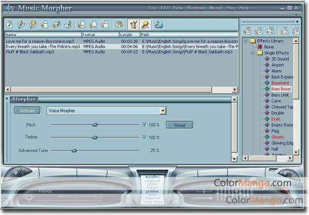 AV Music Morpher Screenshot