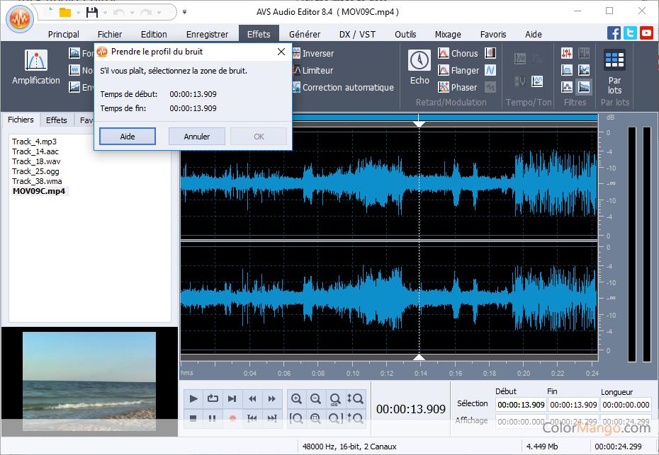 AVS Audio Editor Capture D'écran