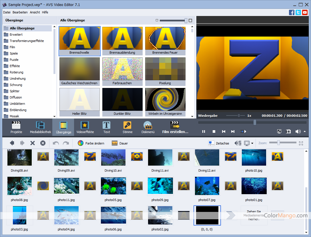 AVS Video Editor Bildschirmfoto