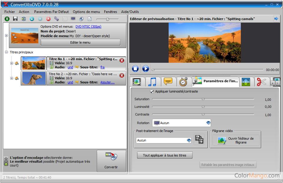 ConvertXtoDVD Capture D'écran