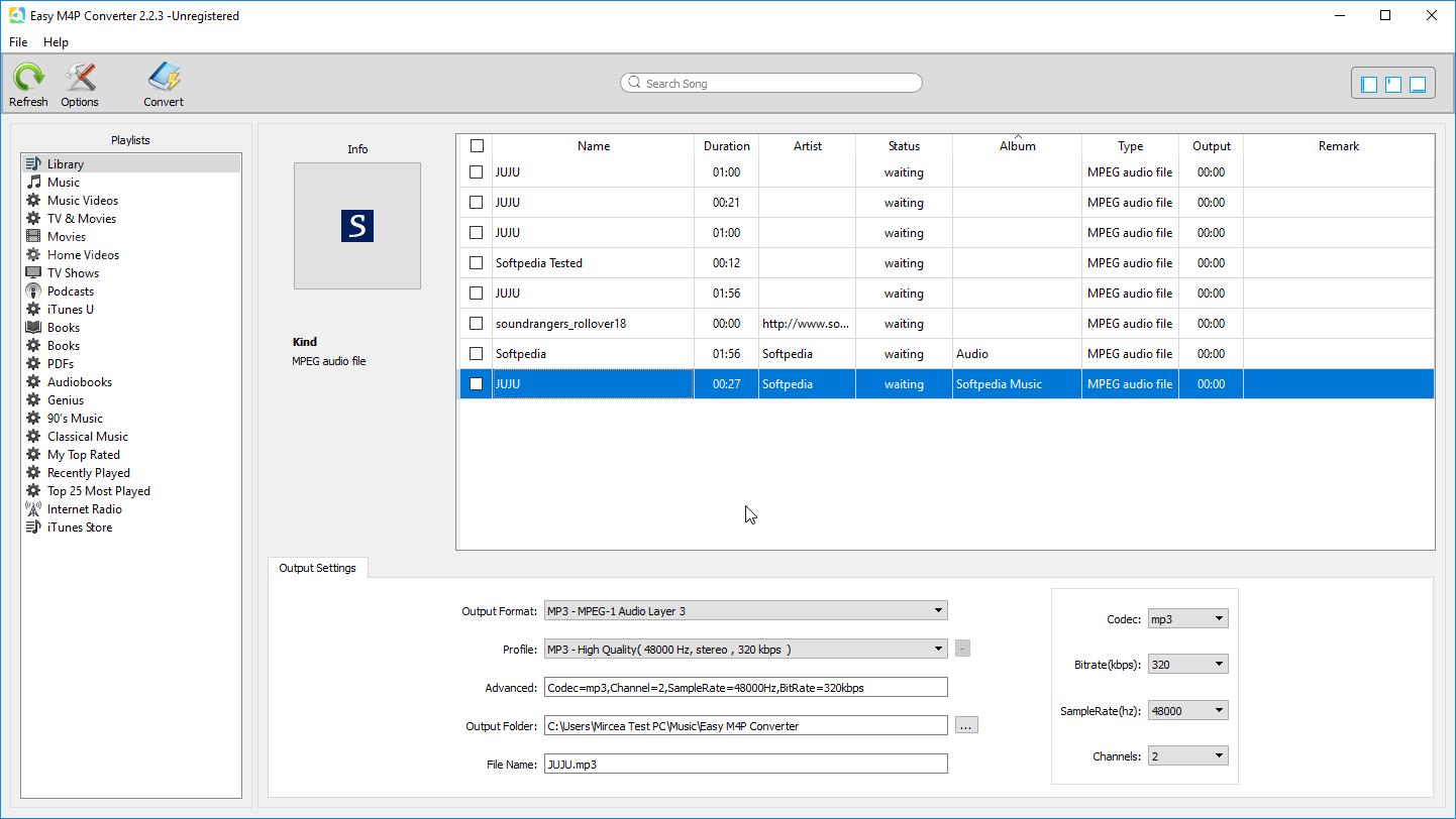 Easy M4P Converter Screenshot