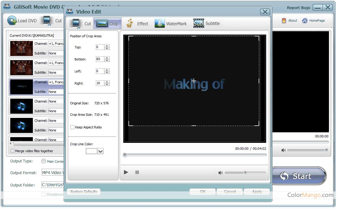 Gilisoft Movie DVD Converter Screenshot