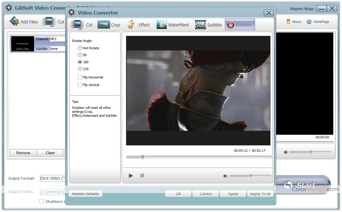 GiliSoft Video Converter Screenshot