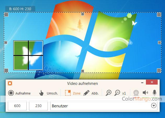 Icecream Screen Recorder Pro Bildschirmfoto