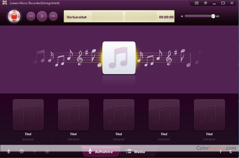 Leawo Musik Recorder Bildschirmfoto
