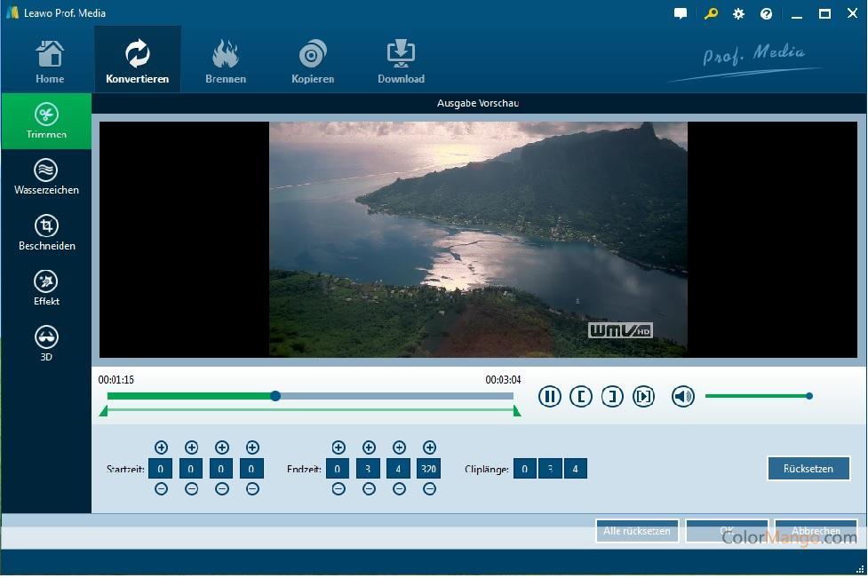 Leawo Prof. Media Bildschirmfoto