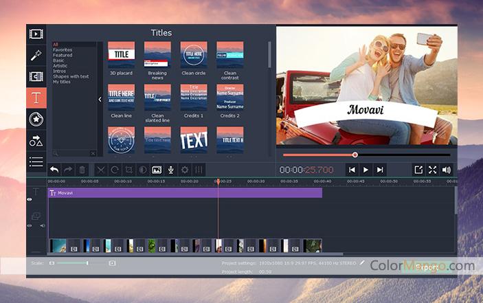 Movavi Video Editor 30% Discount