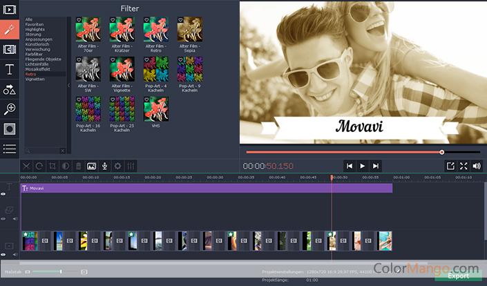 Movavi Video Suite Bildschirmfoto