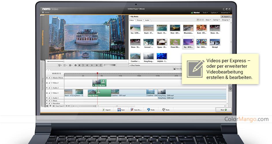 Nero Video Bildschirmfoto