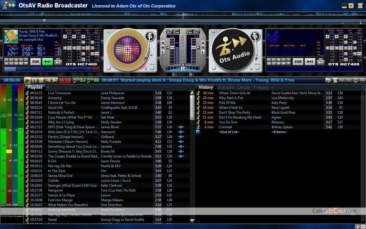 OtsAV Radio Screenshot