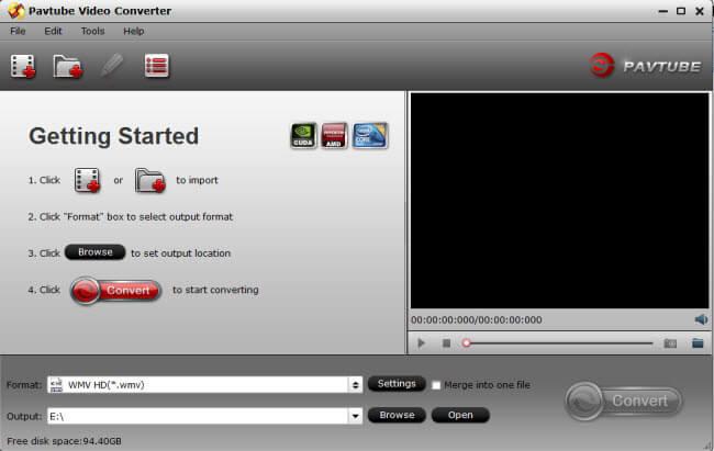 Pavtube Video Converter Screenshot