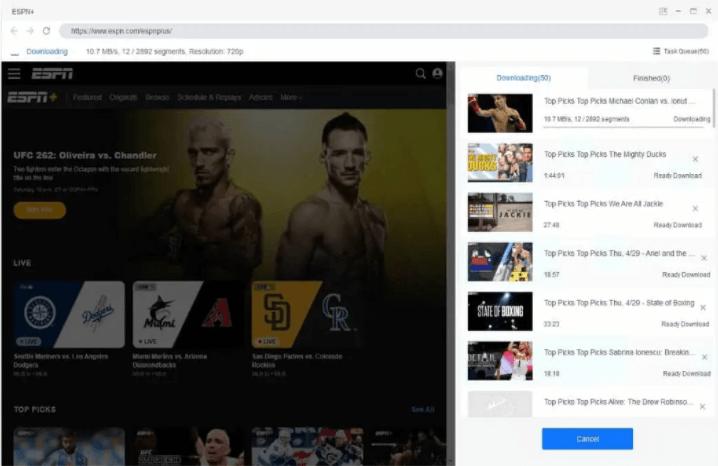 StreamFab ESPN Plus Downloader Screenshot