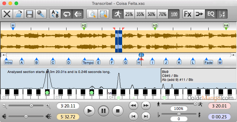 Transcribe! Screenshot
