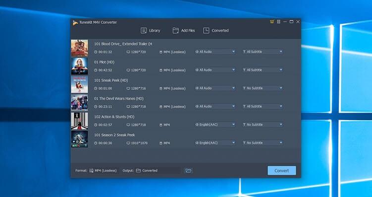 TunesKit M4V Converter Screenshot