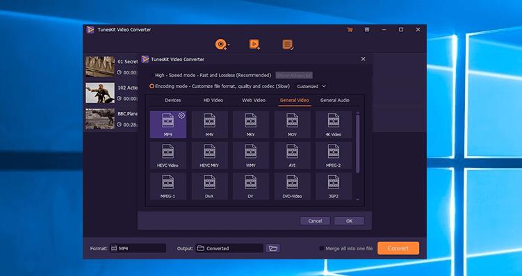TunesKit Video Converter Screenshot
