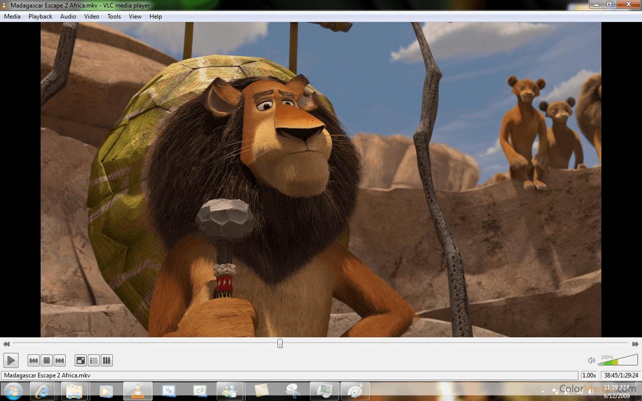 VLC media player Bildschirmfoto