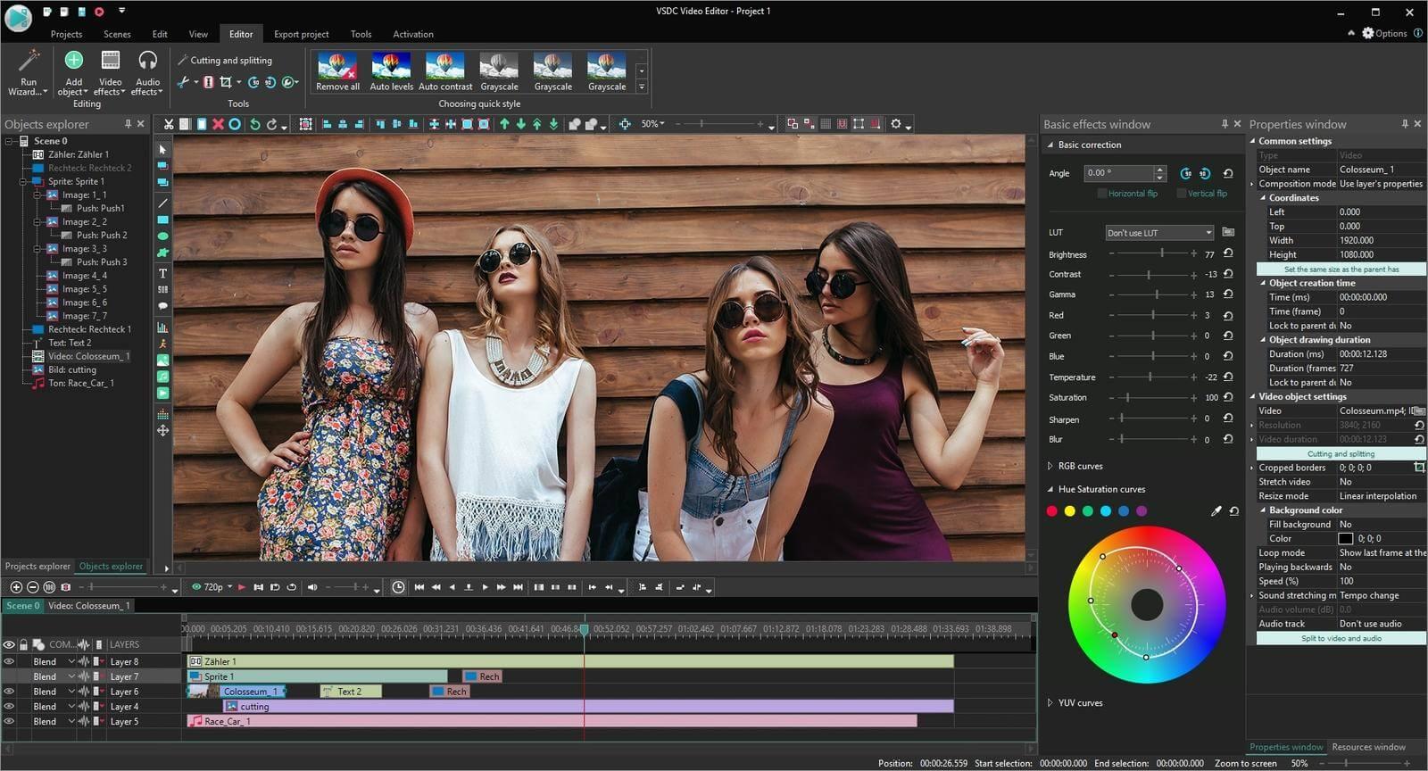 VSDC Video Editor Pro Capture D'écran