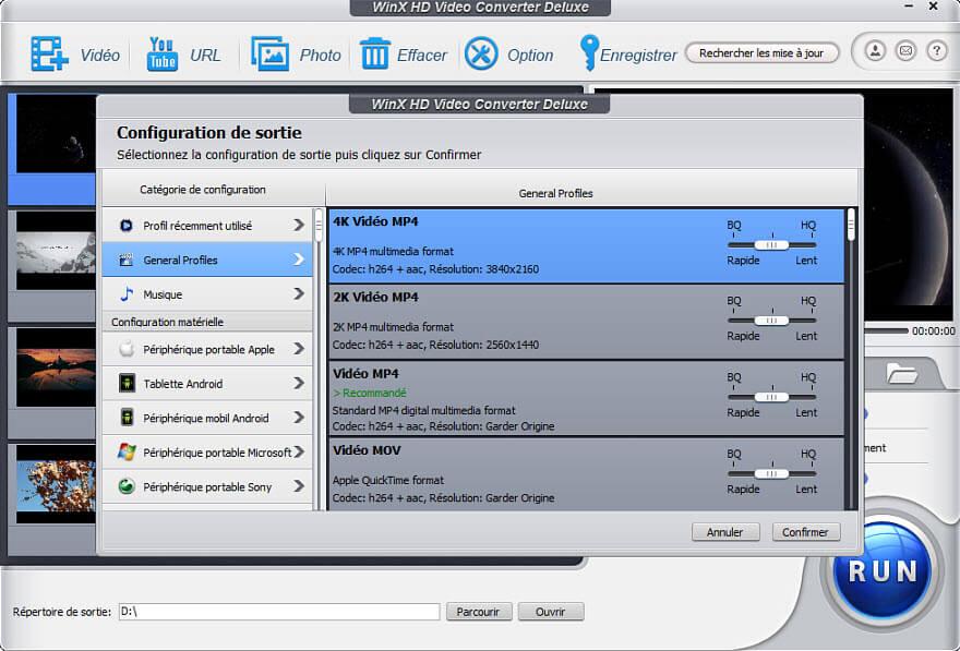 WinX HD Video Converter Deluxe Capture D'écran