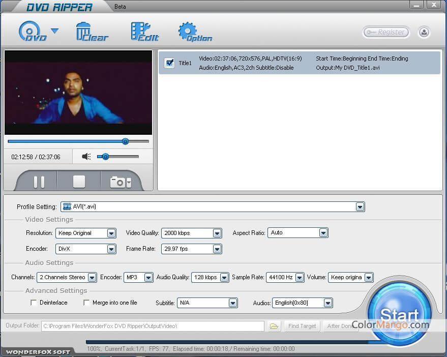 WonderFox DVD Ripper Pro Screenshot