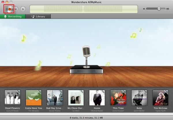 Wondershare AllMyMusic for Mac Screenshot